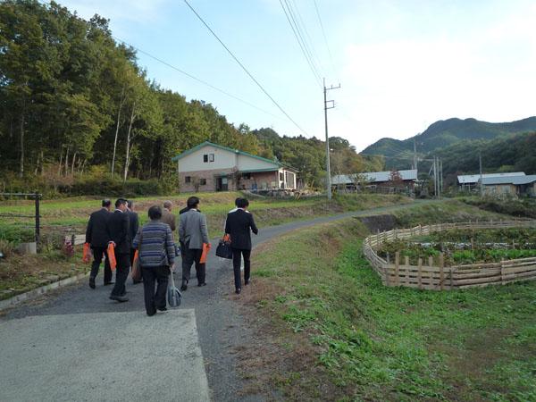 山田ふるさと農園の視察