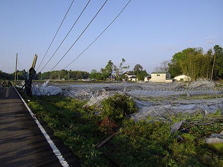真岡市内の突風被害状況3