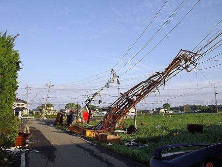 真岡市内の突風被害状況4