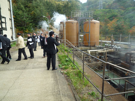 宮城県大崎市にある鬼首(おにこうべ)地熱発電所
