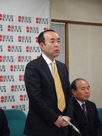 決意を語る田野辺隆男氏